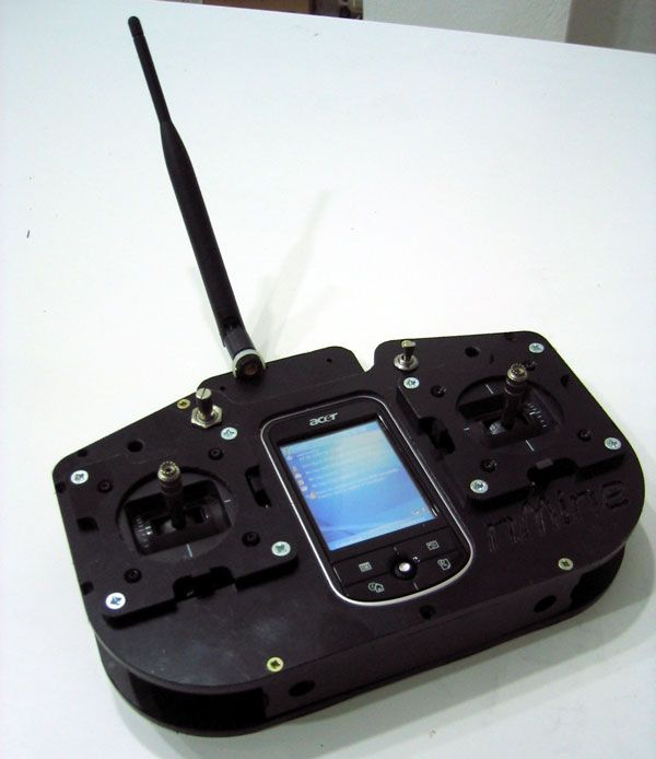 Bidirectional RC transmitter with ARM7, Xbee PRO, Bluetooth and a PDA