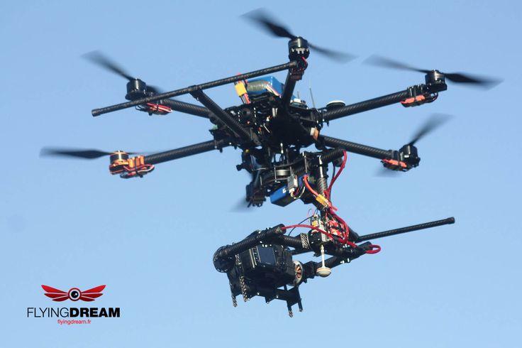 Flyingdream Drone (UAV) - Full carbon frame Hexacopter - 810 Tarot-rc with speci...