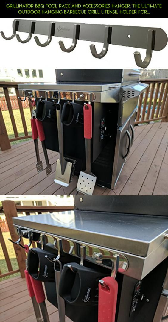 Grillinator BBQ Tool Rack and Accessories Hanger: The Ultimate Outdoor Hanging B...