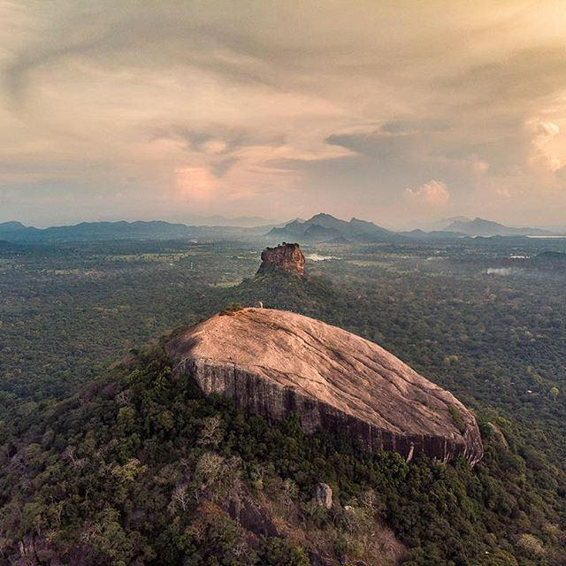 Wonderful Sigiriya and Pidurangala rock from the air.   This view is just stunni...
