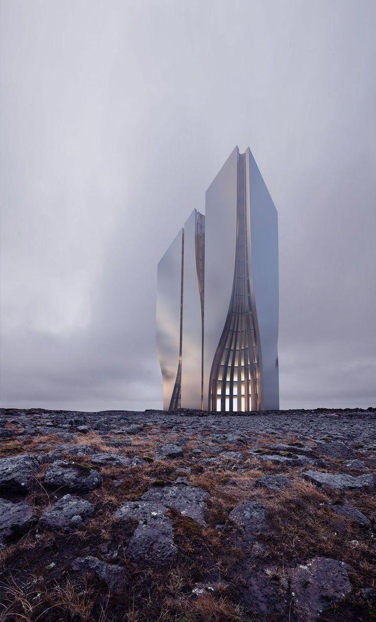 Skyscraper Concept by Roman Vlasov. #DroneConcept
