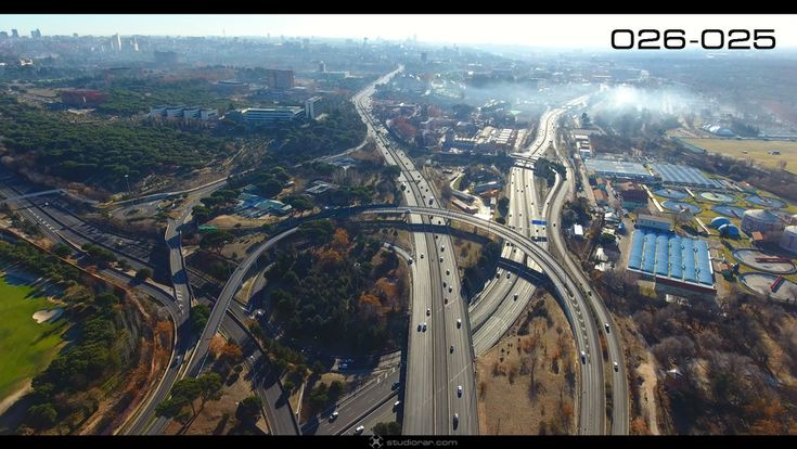 Madrid City Highway – Drone Aerial Photography, Videography Services & Video C...