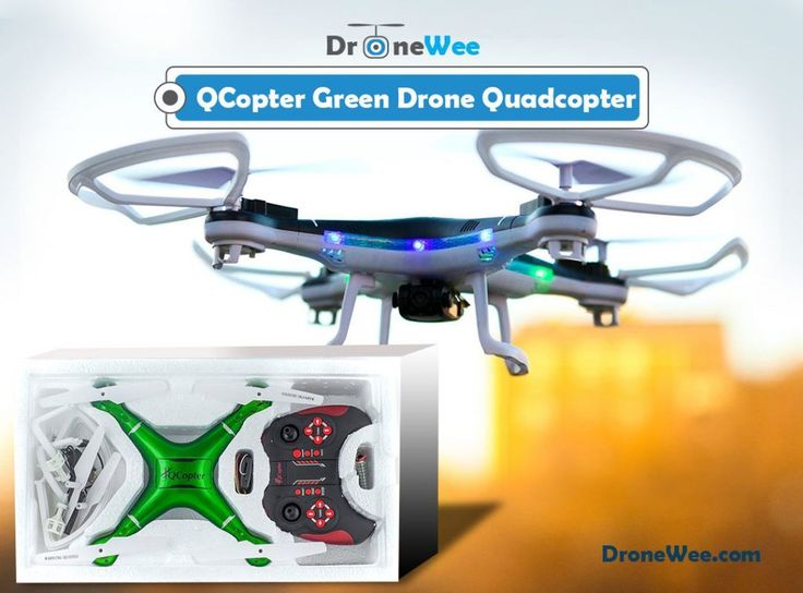 The QCopter drone quad copter has 2 extra-long life batteries that powers the dr...