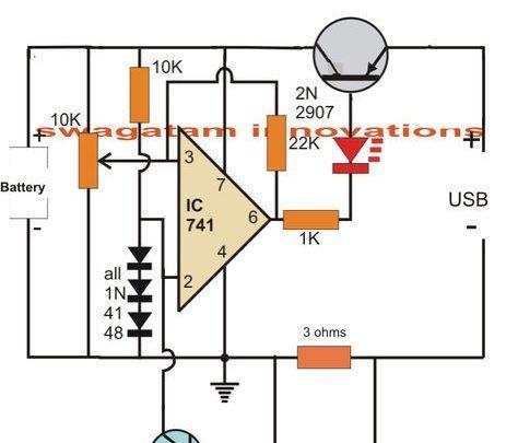 Drone Homemade : USB Li-Ion Battery Charger Circuit - Auto