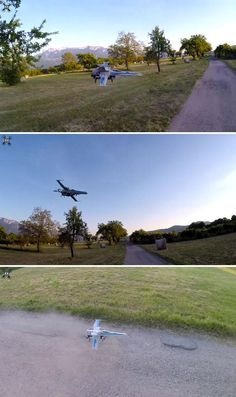 A homemade X-Wing Starfighter drone by Drone and Star Wars enthusiast Oliver C...