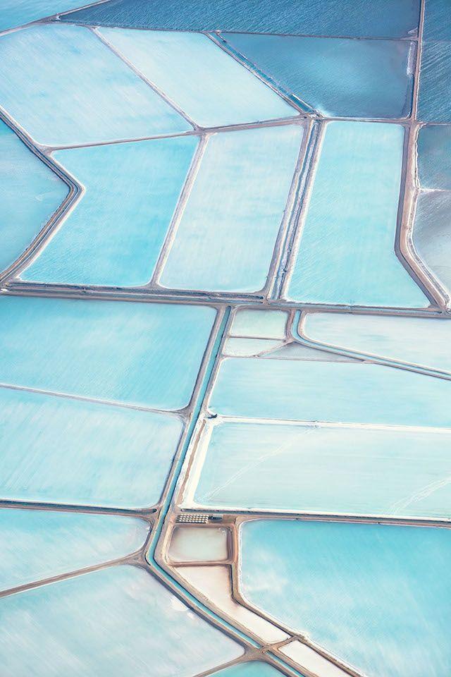 Blue Fields Aerial Photography par le photographe britannique Simon Butterworth