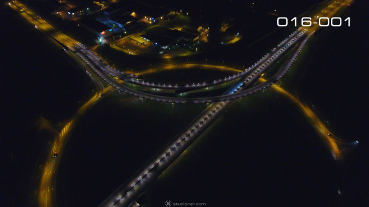 Night View Viaduct Transport Movement – Drone Aerial Photography, Videography ...