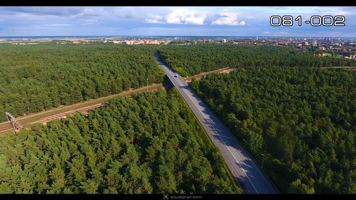 The road through the green forest – Drone Aerial Photography, Videography Serv...