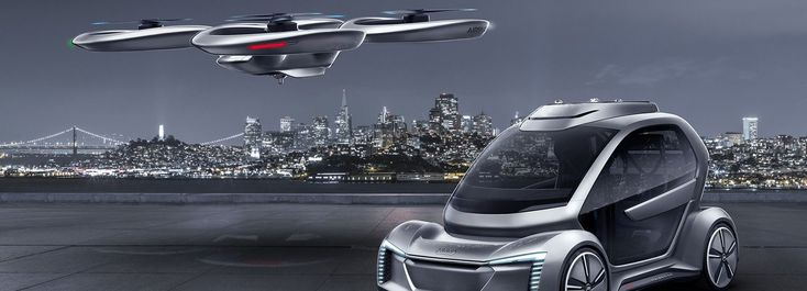 AUDI, italdesign + airbus unveil 'pop.up next', a self-driving car + passenger d...