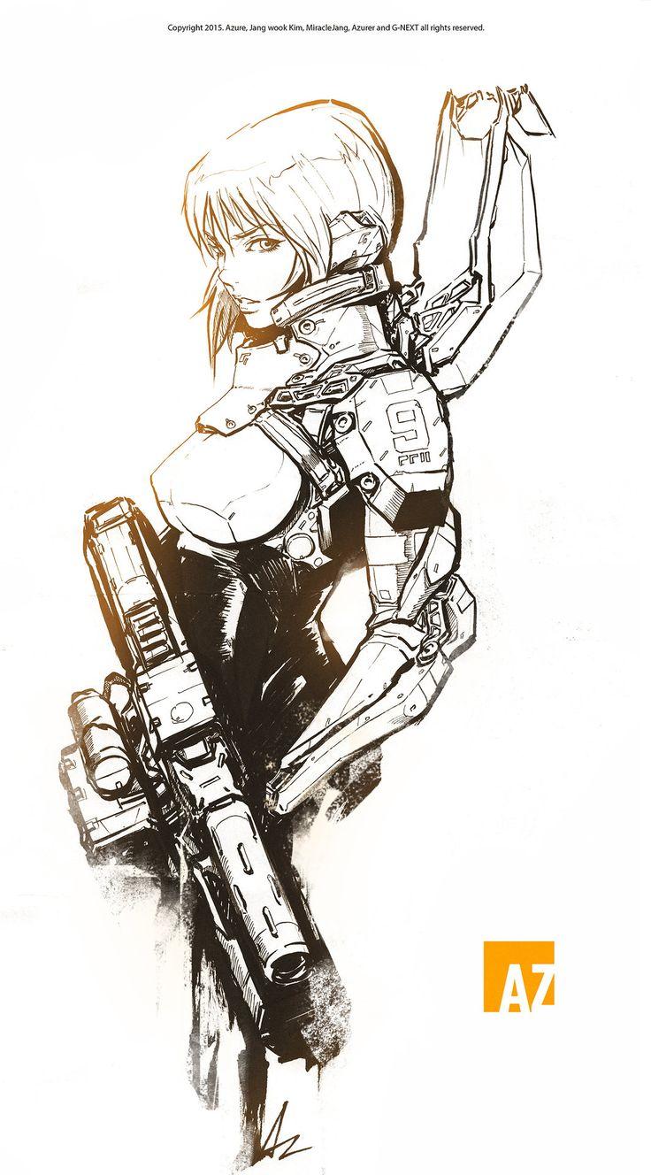 ArtStation - Armored combat trooper, Jang wook Kim