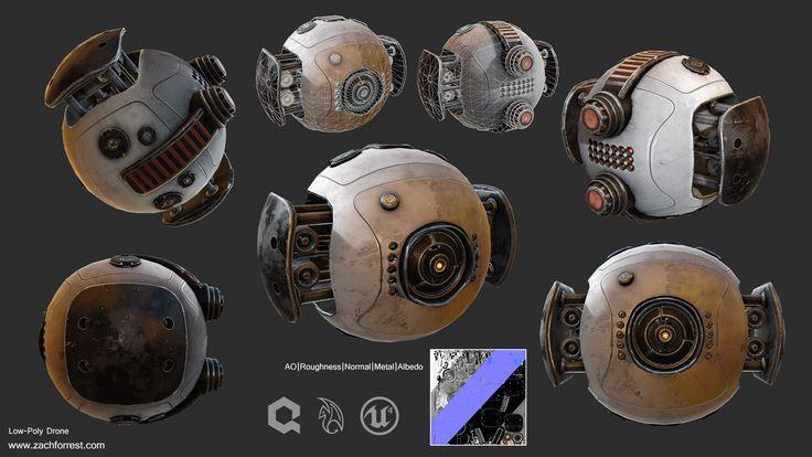 ArtStation - Sci-Fi Drone, Zachary Forrestt
