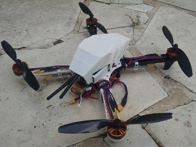 F450 Flamewheel Pixhawk, FPV & Electronics Top plate, Canopy by ljbotero