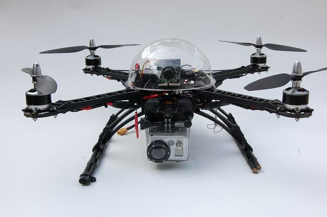 FPV quadcopter, via Flickr.    Very clean build.