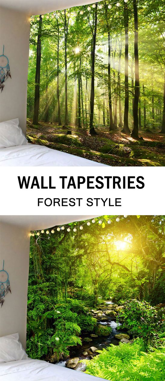 Forest Sunlight Decorative Wall Hanging Tapestry