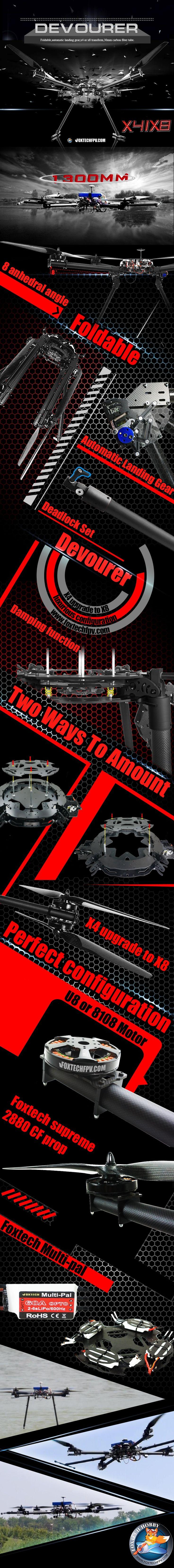 Foxtech Hobby:DJI multicopter multirotor TMOTOR T-Motor NAZA FPV handheld gimb...
