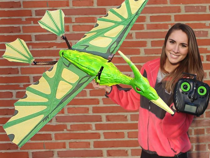 Invade the skies with your own flying, screeching pterodactyl biomimetic ornitho...