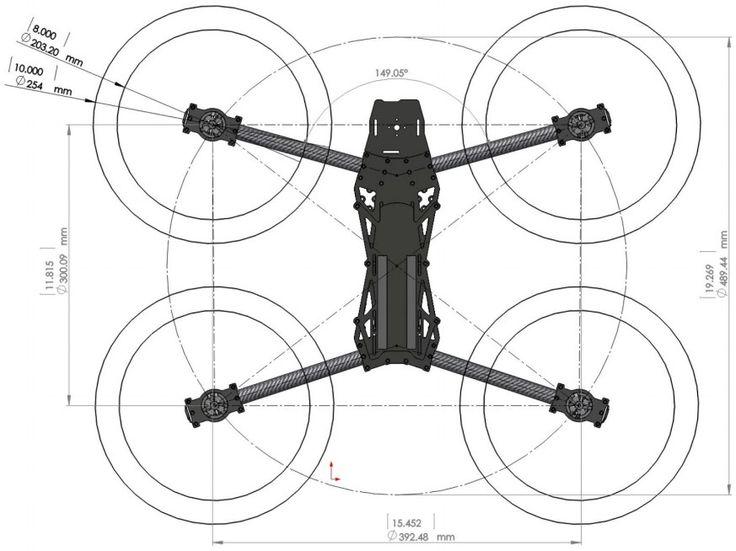 Lynxmotion HQuad500 Drone (Base Combo Kit + Quadrino Nano Controller)