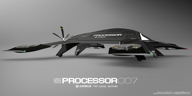 PROCESSOR is a UAV/drone aircraft design concept for the Airbus Group. It has be...