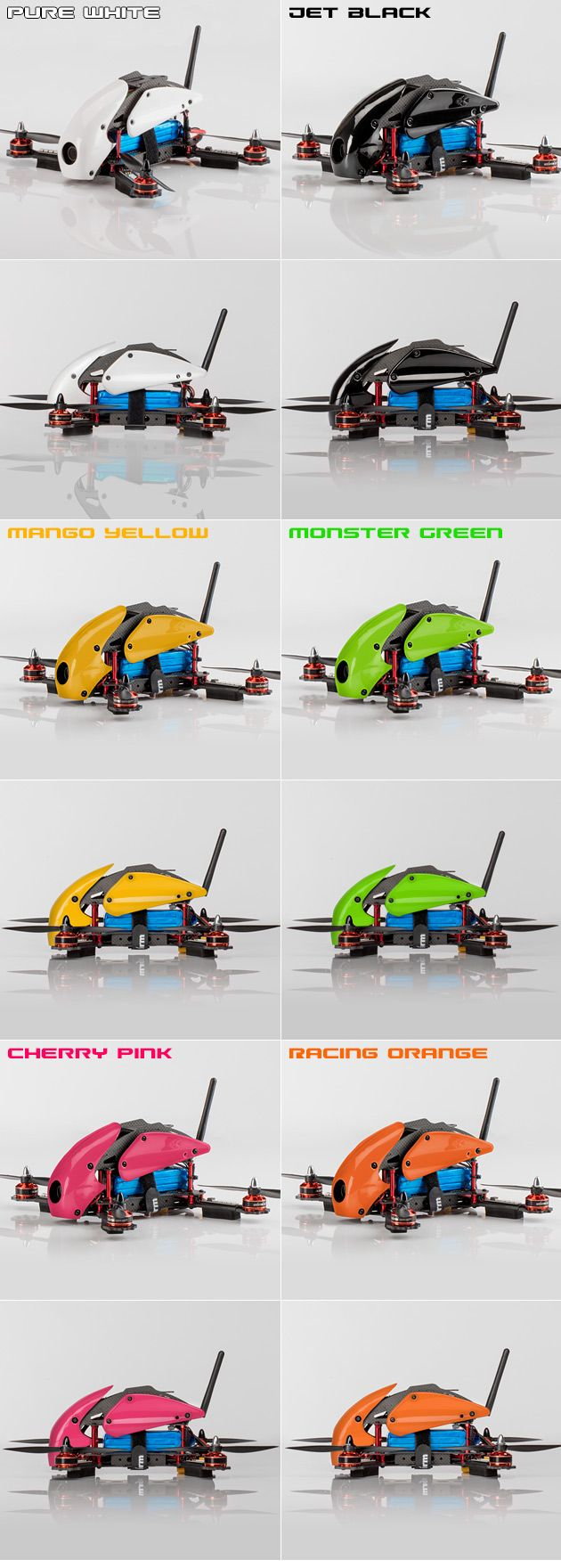 STORM Racing Drone (RTF / SRD280) www.helipal.com/... glossy finish Canopy