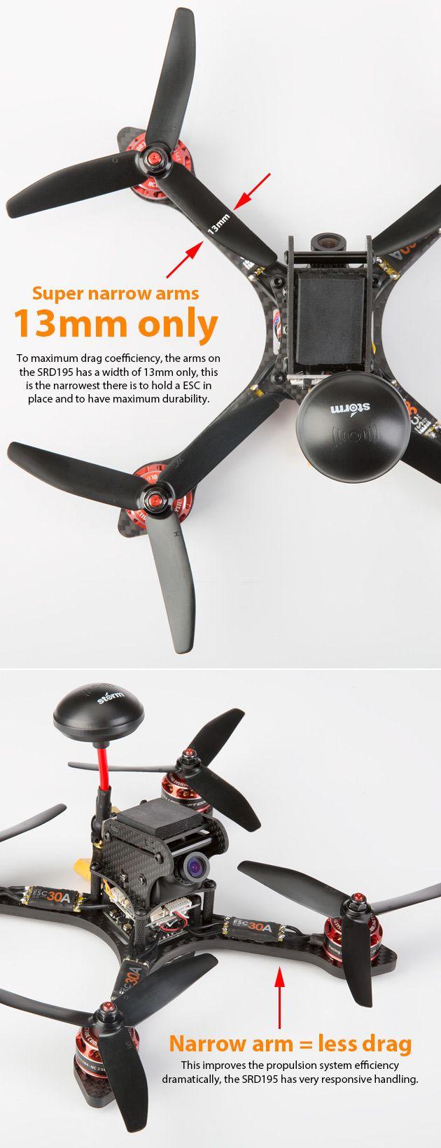 Storm Racing Drone (RTF / SRD195 / CleanFlight) www.helipal.com/...