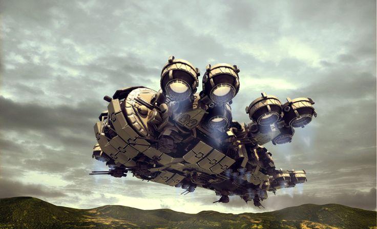 Thunderbolt Gunship render 3 by Avitus12 | Author's note: