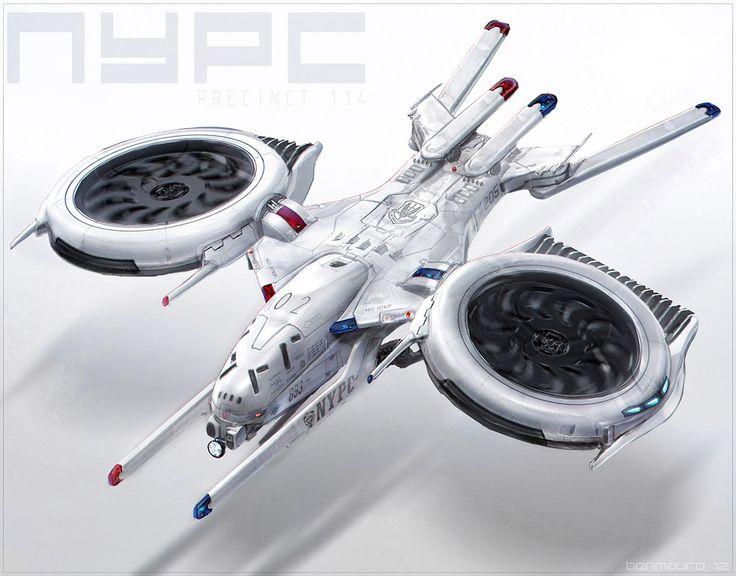 concept ships: Ship concepts for PRECINCT 114 by Ben Mauro