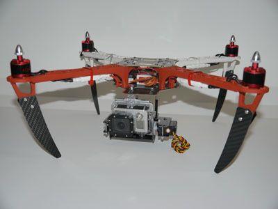 PhantoMount X2 F450 2 Axis Wide Gimbal Unassembled