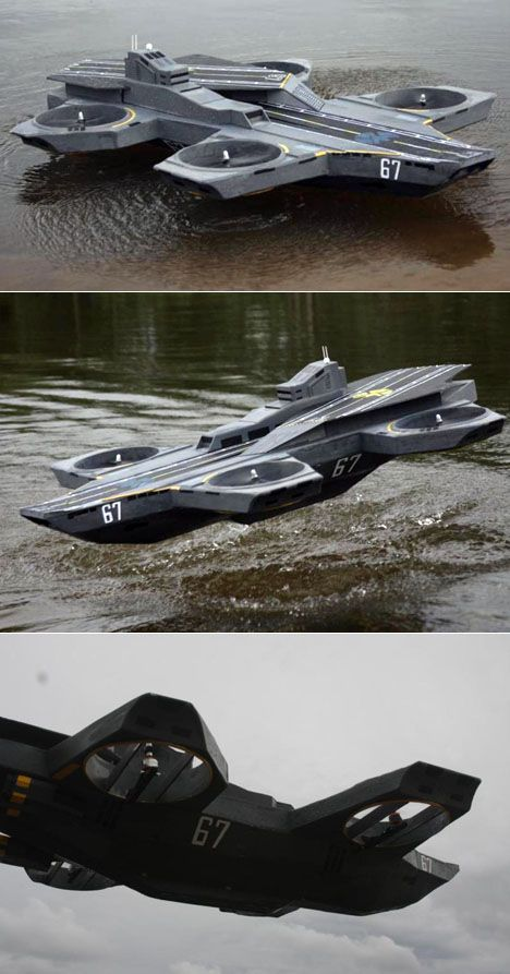 Reverse-engineered, working scale model of the Avengers' S.H.I.E.L.D. Helica...