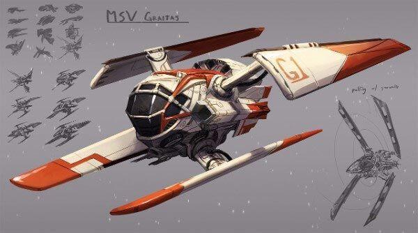 Single Pilot Spaceship By Kezrek