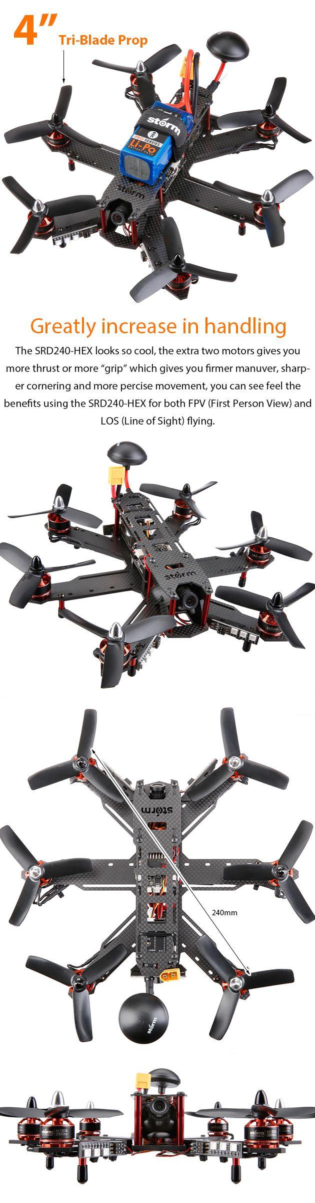 Storm Racing Drone (RTF / SRD240-HEX / CleanFlight) www.helipal.com/...