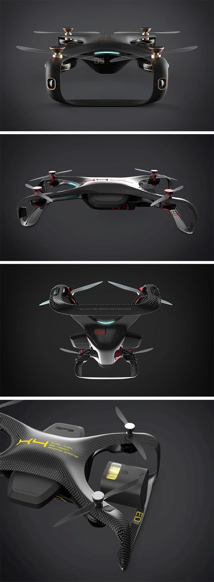 The Racing Drone concept is all about looking badass, and slicing through the ai...