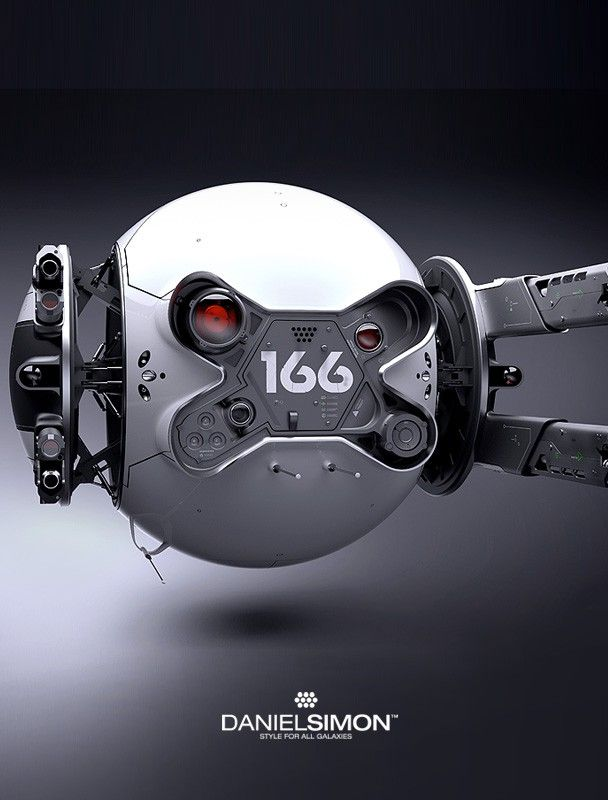 The clean yet intimidating Drone from the movie 'Oblivion'. Concept desi...
