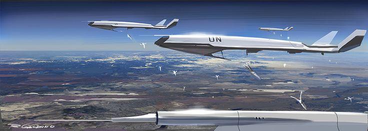UN Drones - Seed Deployment by Rodrigo Galdino   Sci-Fi   2D   CGSociety