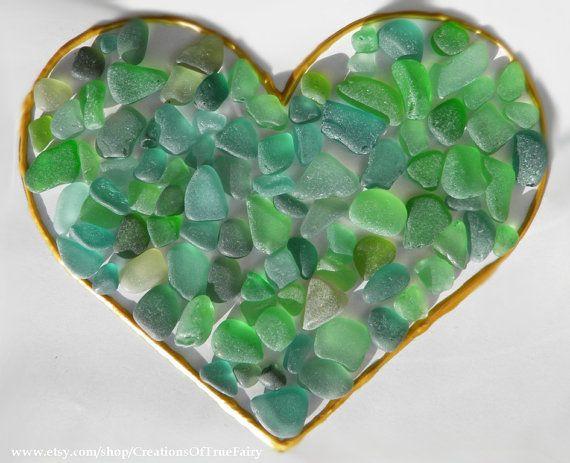 97 pcs Green sea glass Black Sea set of natural beach glass Craft supplies for c...