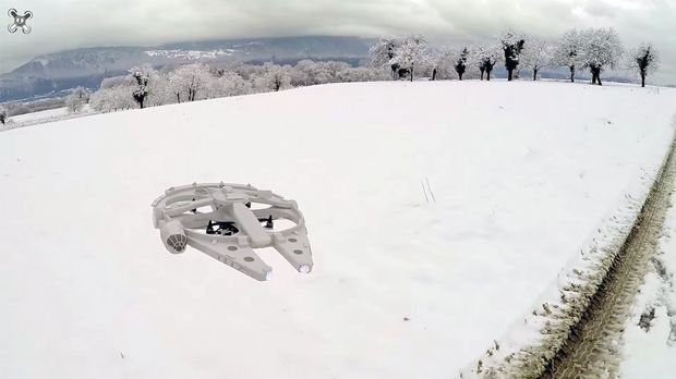 Drone Homemade : Homemade RC Millennium Falcon Is The Drone You've Always Dr...