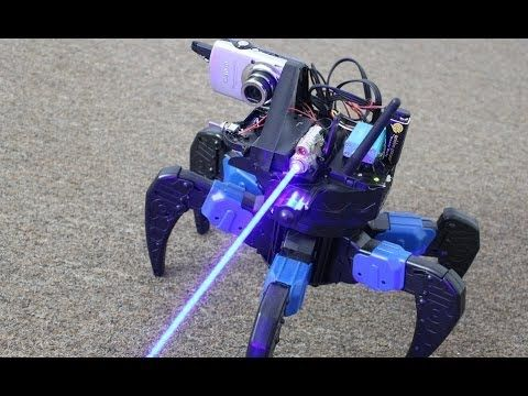 Homemade FPV Video DRONE with REAL LASER GUN!!
