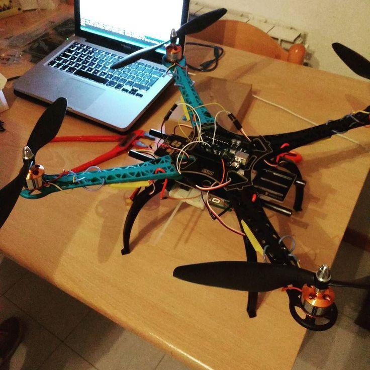 Homemade drone comes to life!  #drone #robotics #quadricopter #home #friends…