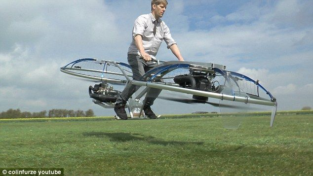 Inventor Colin Furze (pictured) has created a working hoverbike that lets him sp...
