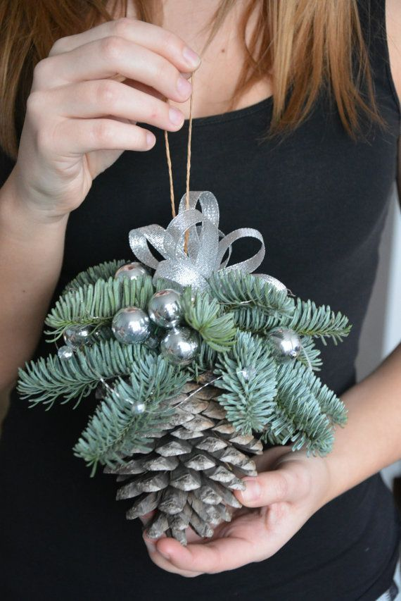 Large Pine Cone Christmas Ornament By FlowerinasDecor