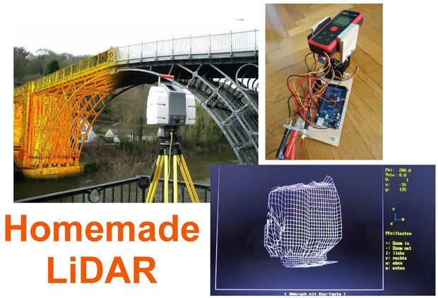Picture of Simple LiDAR using the laser rangefinder Uni-T UT390b, Arduino and Tu...