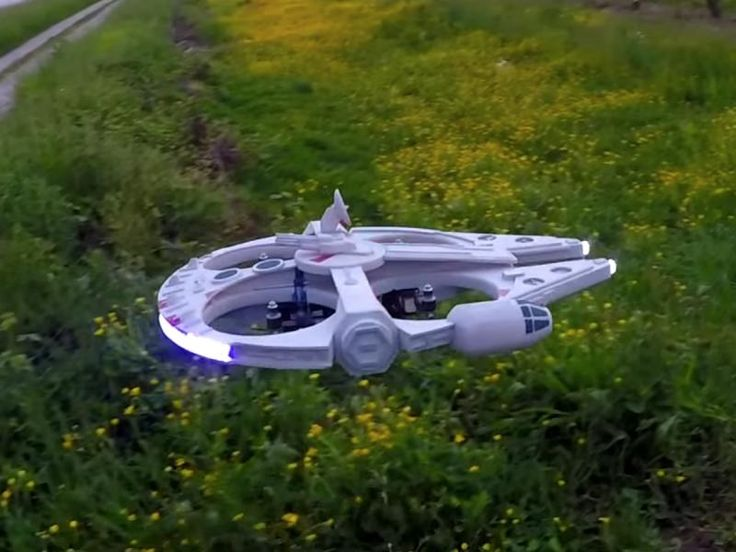The homemade Millennium Falcon flying drone is one of the cooler things we'v...