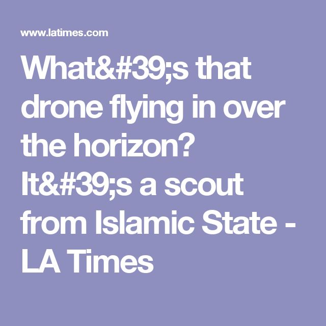 What's that drone flying in over the horizon? It's a scout from Islamic ...