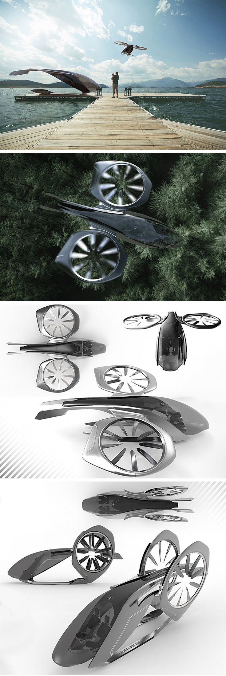 Sky2Go Represents the future of ride-sharing, this drone concept applies the Mer...