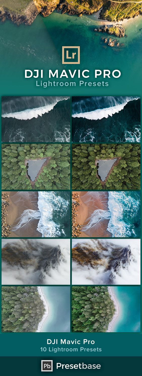 DJI Mavic Pro - Professional Lightroom Presets for Aerial Landscape Photography.