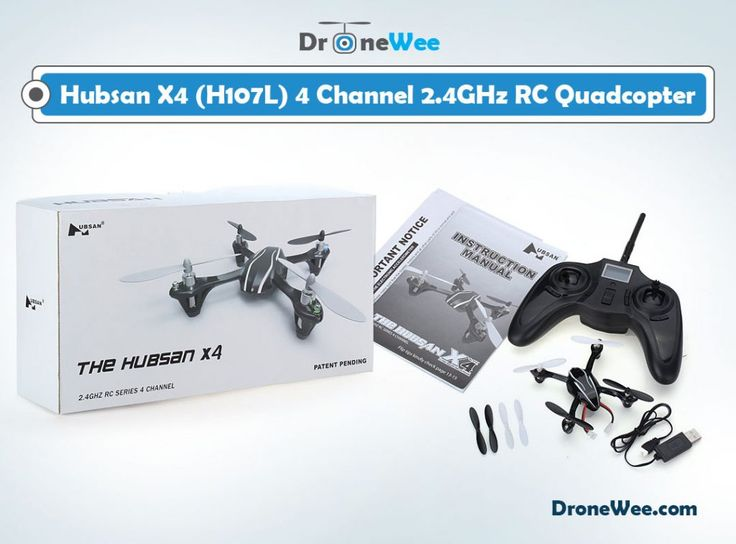 Hubsan X4 has 4 channels, 4 ways flip with 6 axis control system a great choice ...