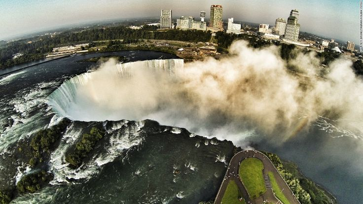 It's not often you get to see images of Niagara Falls from this angle -- tha...