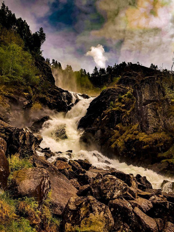 Norway waterfalls are a treat! Heres Låtefossen - happy_drone - travel photogra...