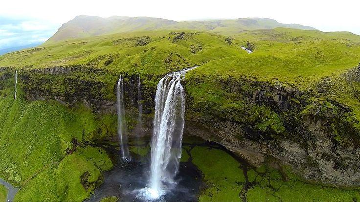 Seljalandsfoss, Iceland. | The Best High-Altitude Drone Photos Of 2014