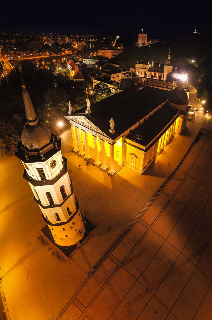 The Cathedral Of Vilnius And Bell Tower