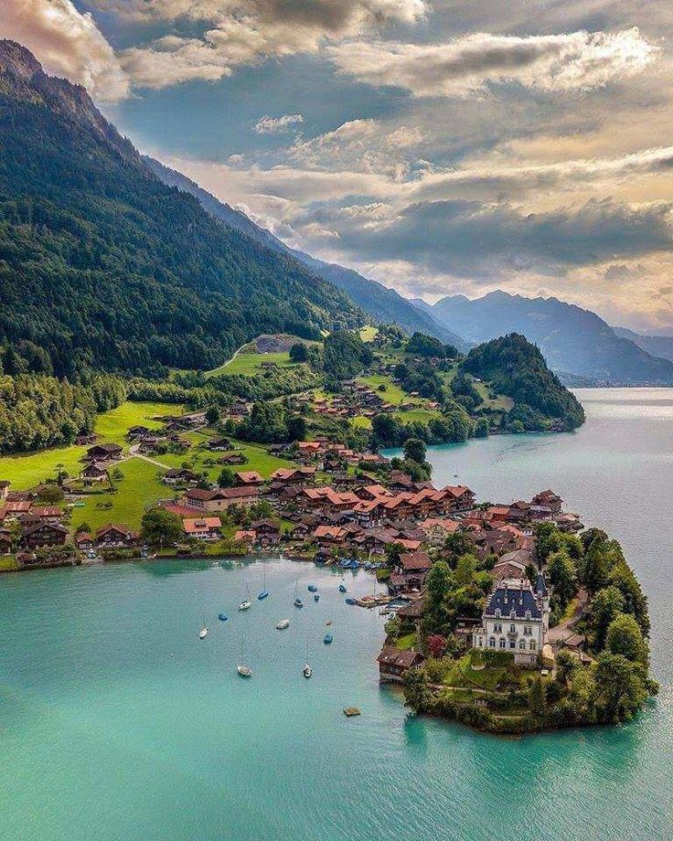 incredible - travel | switzerland - swiss alps - lake - arial photography - dron...